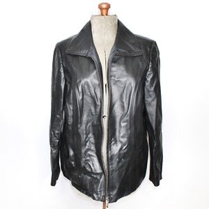 East 5th Faux Leather Black Jacket Size 1X